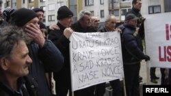 Protest poljoprivrednika u Sarajevu, 14. januar 2013.