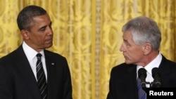 Predsednik Barak Obama i njegov kandidat za narednog sekretara za odbranu Čak Hejgel