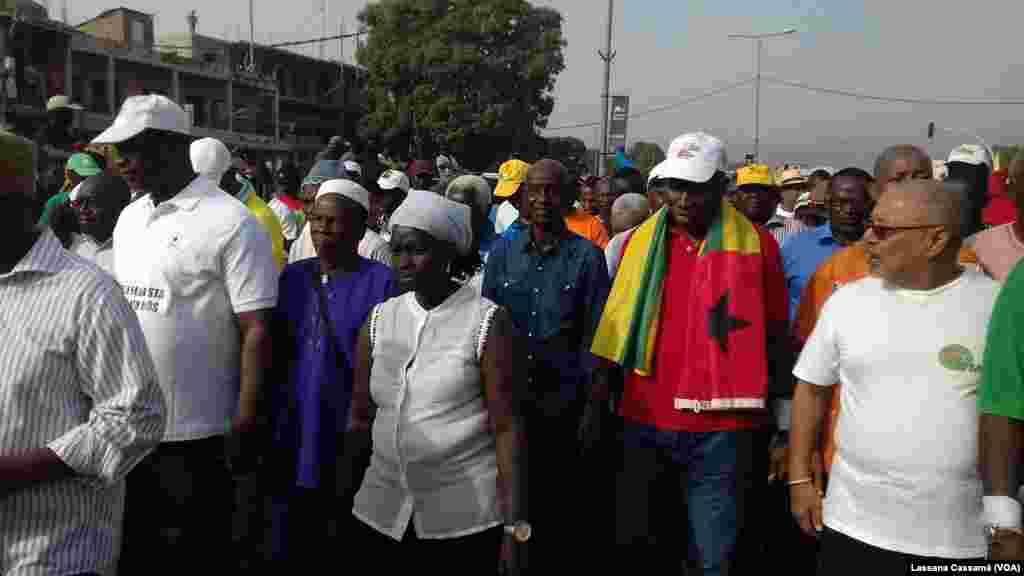 Manifestação contra o Presidente em Bissau