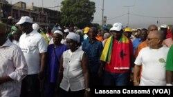 Líderes da oposição em Bissau