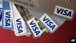 VISA credit cards (File)