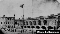 Fort Sumter under the Confederate flag