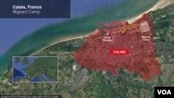Calais, France migrant camp