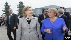 Clinton Şili Devlet Başkanı İle Görüştü