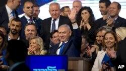 نتانیاهو و حزب او با پیروزی مقابل رقبا، شانس تشکیل دولت جدید اسرائیل را دارند.