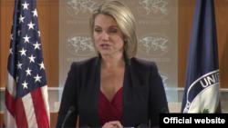 Heather Nauert, juru bicara Departemen Luar Negeri Amerika (foto: dok).