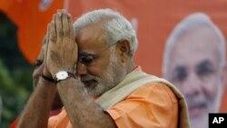 FILE - Gujarat state chief minister Narendra Modi.