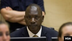 Panglima perang Kongo Thomas Lubanga, dalam sidang di Mahkamah Kejahatan Internasional (ICC) di Den Haag (14/3).
