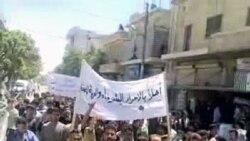 هجوم تظاهرکنندگان به ساختمان راديو و تلويزيون دولتی سوريه