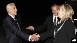 سفر هلری کلنتن وزیرخارجۀ ایالات متحده به تاجکستان