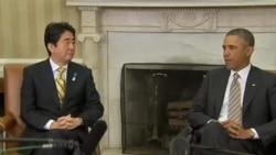 """奥巴马和安倍晋三讨论朝鲜的""""挑衅性行为"""""""