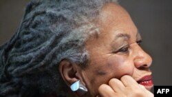 (FILES) In this file photo taken on November 8, 2006 US novellist Toni Morrison attends a press conference at the Louvre museum in Paris. Toni Morrison, the first African American woman to win the Nobel Prize for Literature, has died following a…