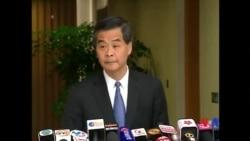 2014-09-30 美國之音視頻新聞: 香港繼續爆發佔中抗議 梁振英呼籲組織者叫停