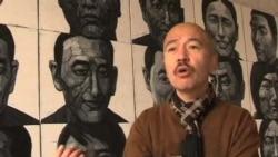 中国画家用画笔为自焚藏人立碑