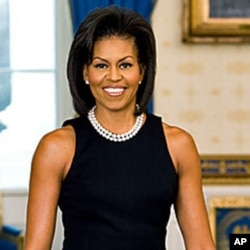 Michelle Obama also chose a sleeveless dress for her official White House portrait