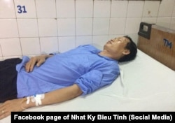 Có cáo buộc là nhà hoạt động Trịnh Toàn bị công an Tp.HCM đánh trọng thương hôm 17/6/2018