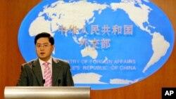 친강 중국 외교부 대변인 (자료사진)