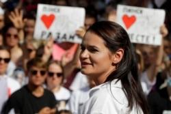 白俄罗斯反对派候选人斯维特拉娜·季哈诺夫斯卡娅