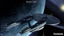 "Pesawat antariksa dalam film ""Star Trek Into the Darkness""."