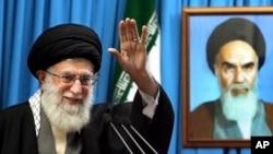이란의 최고 지도자 아야톨라 알리 하메네이.