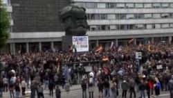 數萬人齊聚德國開姆尼茨 參加反種族主義音樂會