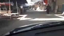Shops Closed as Part of a Strike in Javanrud, Iran,