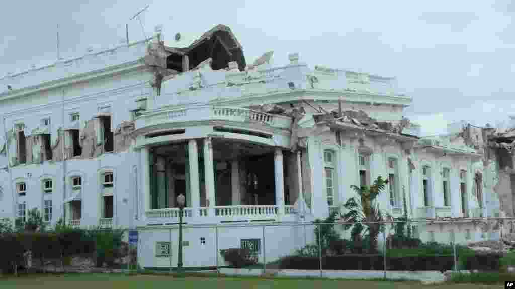 Haiti's national palace was severely damaged in the earthquake and has not been repaired almost two years later