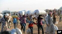 Khoảng 70.000 người Kurd đã chạy sang Thổ Nhĩ Kỳ tị nạn.