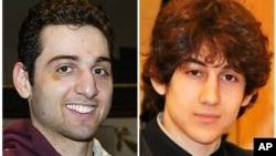 美國官員說波士頓爆炸案嫌疑人兄弟﹐其中塔梅爾蘭(左)﹐曾被列入恐怖分子監視名單。