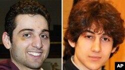 Hình hai anh em Tamerlan Tsarnaev và Dzhokhar Tsarnaev.