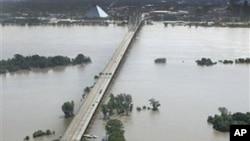 密西西比河洪水景象