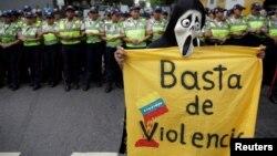 La violencia en Venezuela ha llevado a la realización de numerosas protestas en las calles de Caracas.