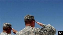 부대창설 기념식을 올리는 이라크 주둔 미군 (자료사진)