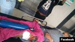ေျမျမဳပ္ဗံုးေပါက္ကြဲလို႔ ထိခိုက္ဒဏ္ရာရသြားတဲ့ ထင္းေခြမုန္းကိုးေဒသခံ တဦး(Tsap MungLawt Facebook)