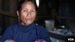 Lmam Pjanh, 45, a Kachork ethnic villager in the northeast Cambodia's Rattanakiri province, lost some six hectares of farm land to Vietnamese agribusiness giant Hoang Anh Gia Lai (HAGL). (Sun Narin/VOA Khmer)