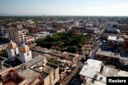 FILE - A general view of Maicao near La Guajira region, which its close to the border with Venezuela, Aug. 16, 2012.