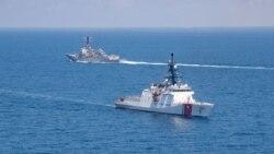 中國在台灣島附近軍演後 美艦再次穿越台灣海峽