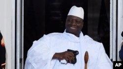 Le président sortant gambien Yahya Jammeh, 5 août 2014.
