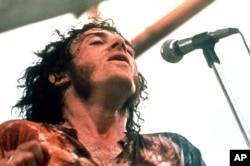 FILE - Joe Cocker performs at Woodstock in Bethel, New York, August 1969.