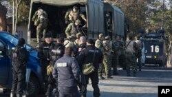 Tentara Bulgaria dikerahkan untuk mengatasi bentrokan migran di Harmanli,pusat penerimaan migran di Bulgaria, Kamis (24/11).