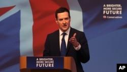 Menteri Keuangan Inggris George Osborne di Swindon, Inggris (Foto: dok).