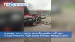 VOA60 Africa - DRC policeman beaten to death as rival Muslim groups clash