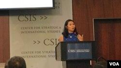Dân biểu Stephanie Murphy phát biểu tại Trung tâm CSIS hôm 19/6/2019.