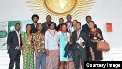 FILE: Representatives of Youth Count International at the AUC headquarters.