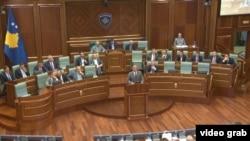 Premijer Kosova Ramuš Haradinaj tokom današnjeg obraćanja poslanicima Skupštine Kosova