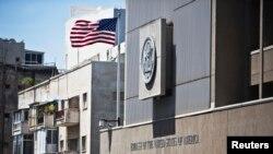 지난 4일 이스라엘 수도 텔아비브 주재 미국 대사관 모습.