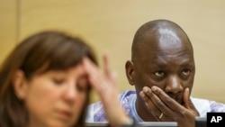 Thomas Lubanga, na bosambisami na ye na CPI, La Haye, Pays-Bas, 1décembre 2014.