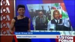Washington Forum du jeudi 19 mai 2016: Rwanda et Burundi a couteaux tires