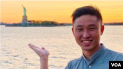 台灣學生柯筌耀在其臉書賬戶上的照片 (網絡截圖)