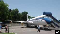 FILE - The Lisa Marie, pictured, is one of two jets once owned by the late Elvis Presley that will be put up for bids.
